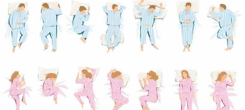 posturas para dormir bien